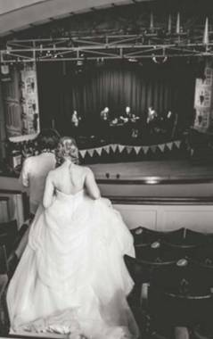 Winding Wheel Auditorium Bride and Groom