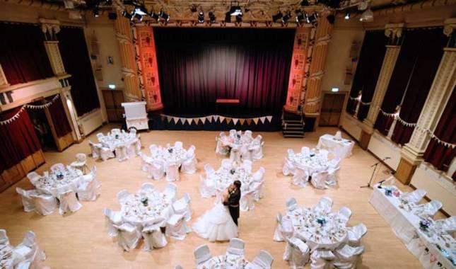Winding Wheel Auditorium Wedding Reception